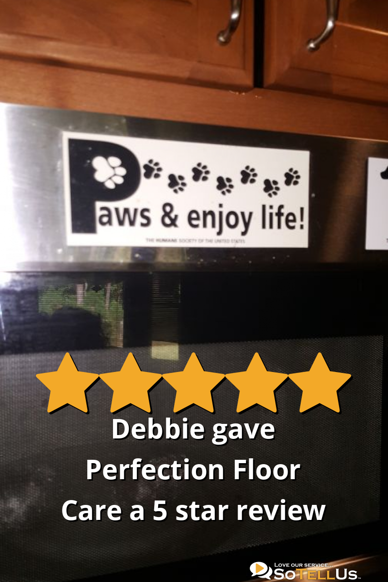 Debbie P Gave Perfection Floor Care A 5 Star Review On